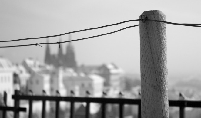 """City behind a barbed wire"" © Michal Macura, 2012. CC BY-NC-SA 2.0."